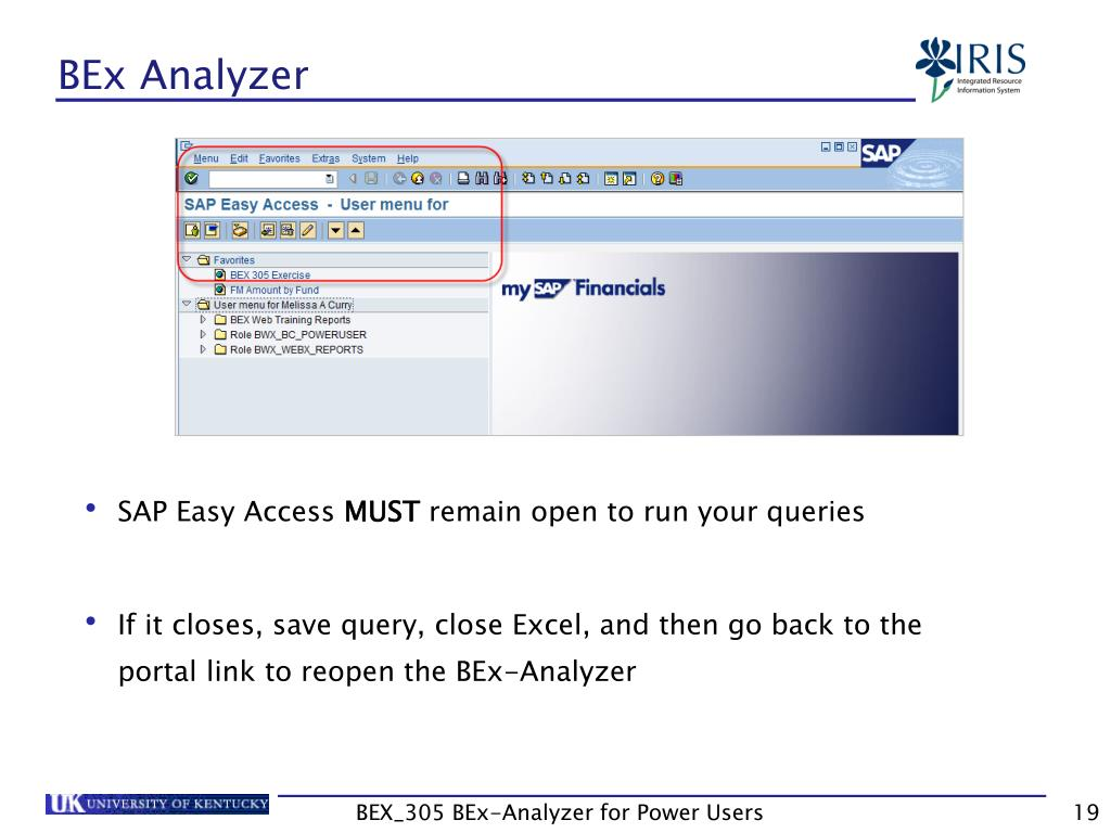 PPT - Business Explorer-Analyzer for Power Users BEX_305 PowerPoint
