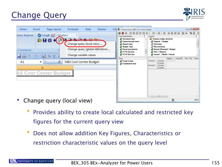 Change Query