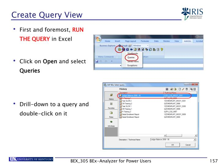 Create Query View