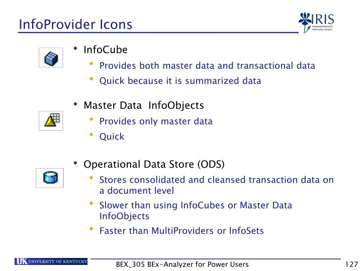 InfoProvider Icons