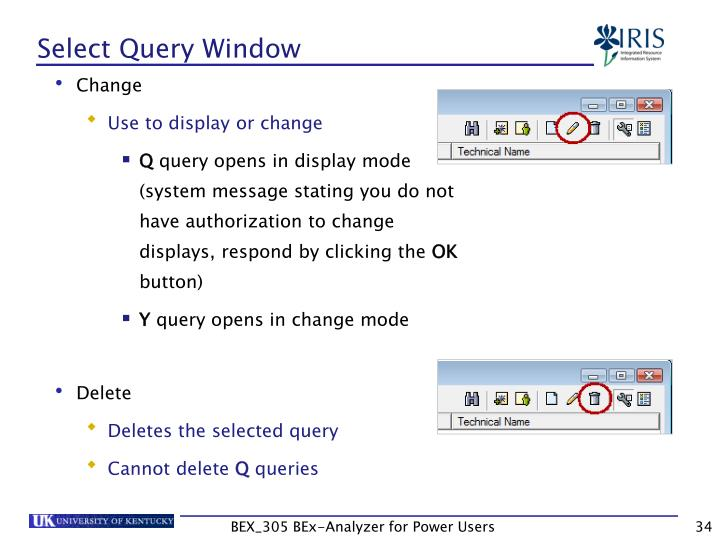 Select Query Window