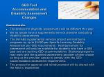ged test accommodation and disability assessment changes