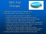ged test changes