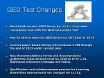 ged test changes1