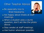 other teacher advice