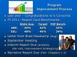 program improvement process