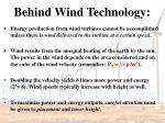 behind wind technology
