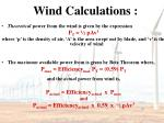 wind calculations