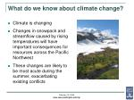 what do we know about climate change