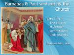 barnabas paul sent out by the church