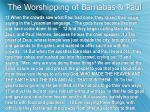 the worshipping of barnabas paul
