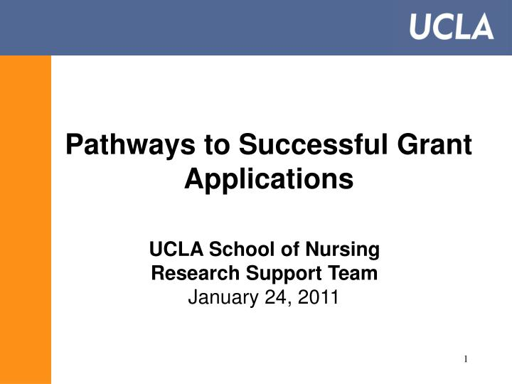 pathways to successful grant applications n.