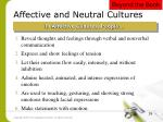 affective and neutral cultures