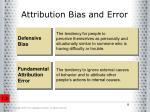 attribution bias and error