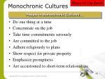 monochronic cultures