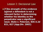 lesson i decisional law1