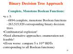 binary decision tree approach10