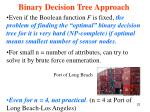 binary decision tree approach4
