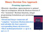 binary decision tree approach5
