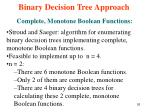 binary decision tree approach8