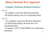binary decision tree approach9