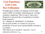 cost functions unit costs tree utilization