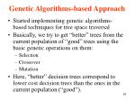 genetic algorithms based approach1