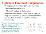 optimum threshold computation