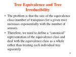 tree equivalence and tree irreducibility1