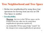 tree neighborhood and tree space1