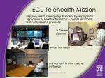 ecu telehealth mission
