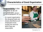 characteristics of good organization
