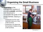 organizing the small business