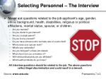 selecting personnel the interview2