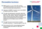 renewables business