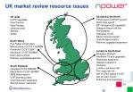 uk market review resource issues