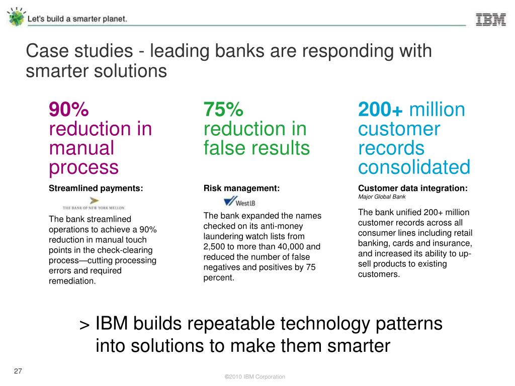Case studies - leading banks are responding with smarter solutions