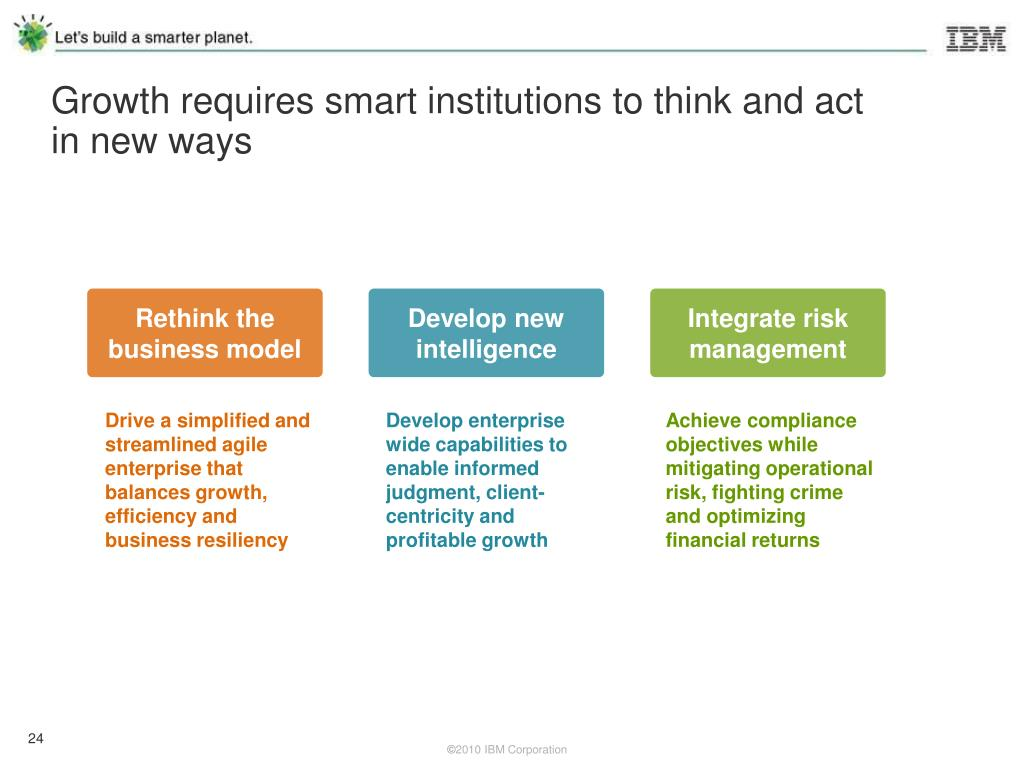 Growth requires smart institutions to think and act in new ways