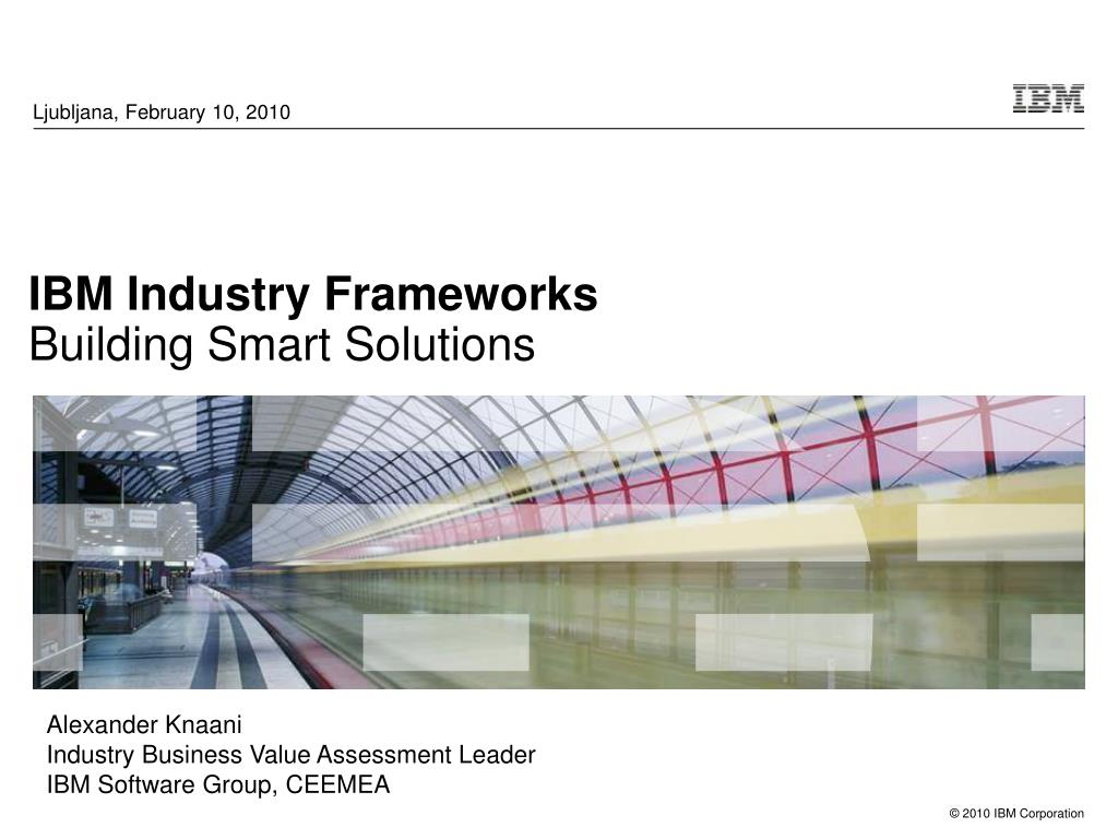 ibm industry frameworks building smart solutions l.