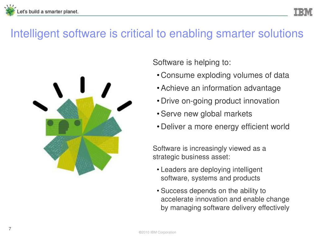 Intelligent software is critical to enabling smarter solutions