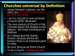 churches universal by definition