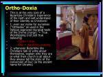 ortho doxia