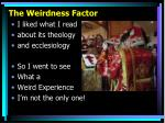 the weirdness factor