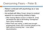 overcoming fears peter b