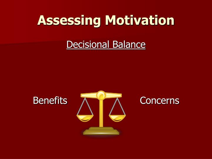 assessing motivation n.