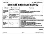 selected literature survey