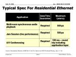 typical spec for residential ethernet