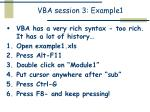 vba session 3 example1