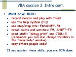vba session 3 intro cont
