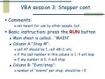 vba session 3 stepper cont
